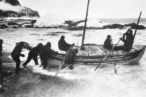 Launching the James Caird