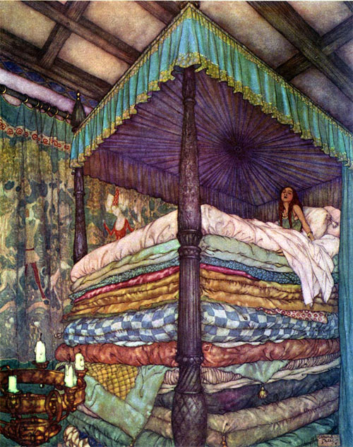 The Pricess and the Pea by Edmund Dulac