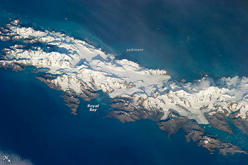 The view of South Georgia that we did not have, taken from the ISS, 2013, via @NASA_EO