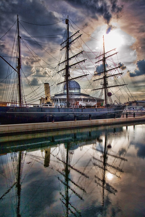 """""""The RSS Discovery as seen docked at Dundee,"""" Dundee, 2009, by David Ball"""