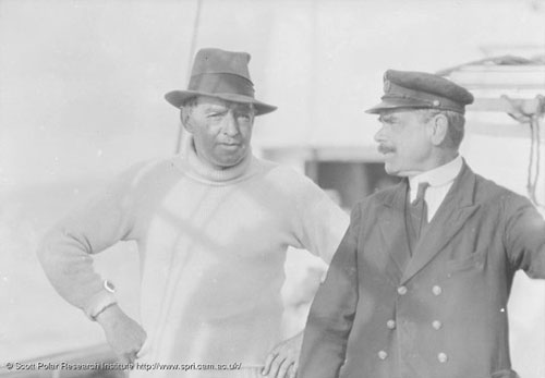 Shackleton and Worsley aboard the Quest, 1921