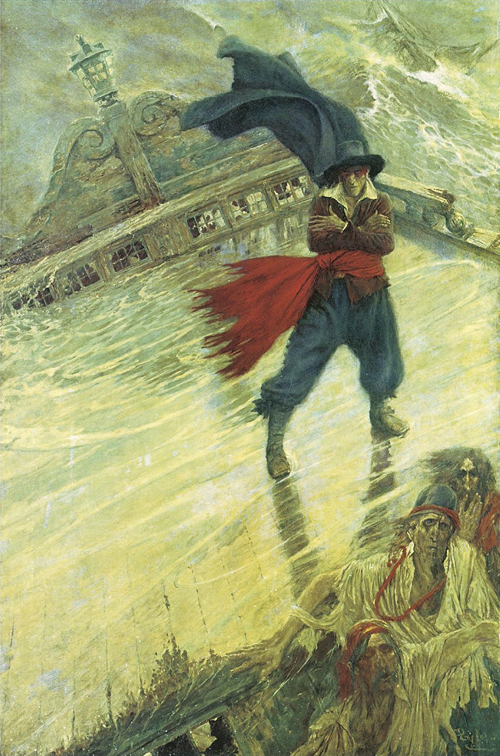 The Flying Dutchman by Howard Pyle