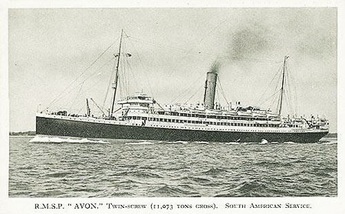 HMS Avoca: Armed Merchant Cruiser, hired merchantman, previously as SS Avon